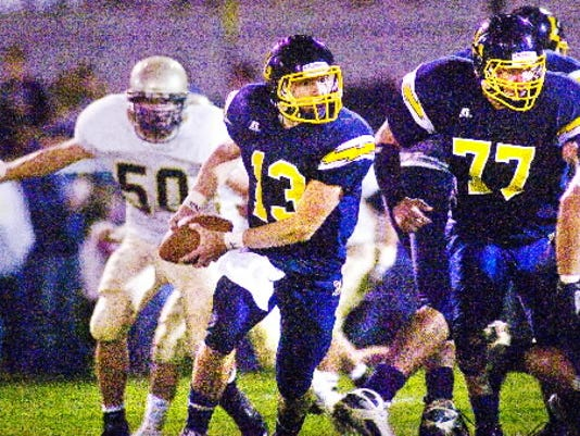 Littlestown's Dustin Crouse led the YAIAA in passing as a junior.