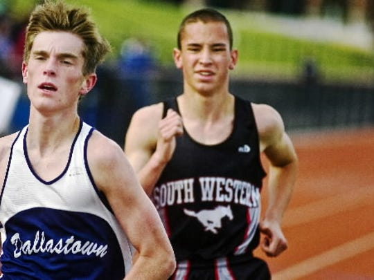 Will South Western's Ryan Hertzog, right, catch Dallastown's Patrick Reilly, left, this season? (GAMETIMEPA.COM -- FILE)