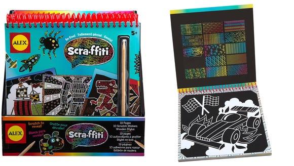 Scratch art is always irresistible.