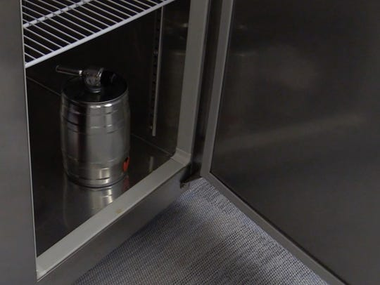 The Pico's beer keg in the refrigerator at USA TODAY.