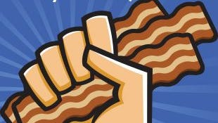 Service First Federal Credit Union is giving away a year's supply of bacon.