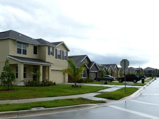 Homes in the new Hammock Shores development in Palm