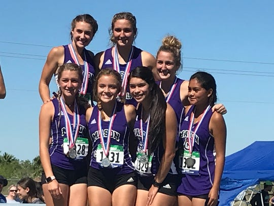 The Mason High School girls were second overall at