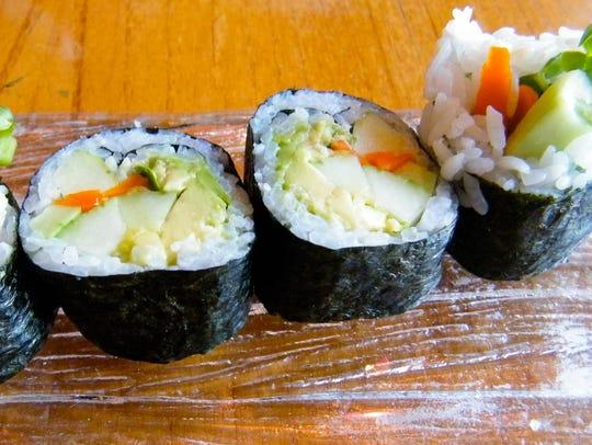 Vegetable rolls at Kabuki.