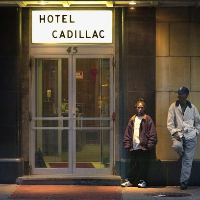The Cadillac Hotel on Chestnut Street.