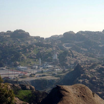 The Santa Susana Field Lab in the hills east of Simi