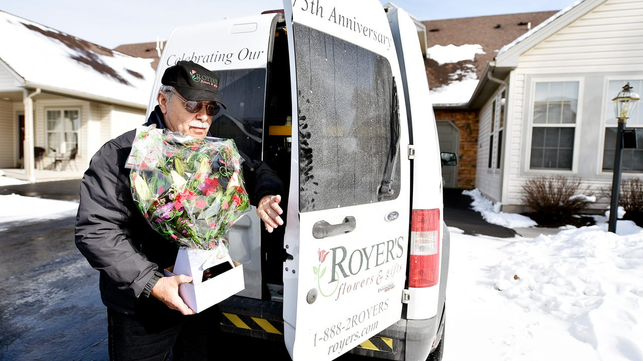 "Jim Waughtel says delivering flowers is the first job where ""everybody's usually happy to see me."""