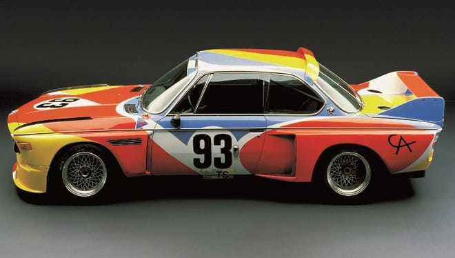 Alexander Calder designed the paint scheme on this BMW in 1975. The car goes on display in March