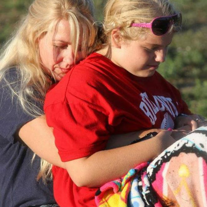 FILE- This undated file photo provided by the Stapleton family via the Traverse City Record-Eagle, shows Issy Stapleton, right, and her mother Kelli in Elberta, Mich. Kelli, facing charges of trying to kill herself and her autistic 14-year-old daughter, is scheduled for sentencing, Monday, Oct. 7, 2014, and could get up to life in prison. Kelli pleaded guilty last month to first-degree child abuse after originally being charged with attempted murder. (AP Photo/Stapleton Family via Traverse City Record-Eagle, File) NO SALES