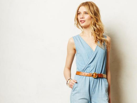 Denim duds take any outfit from summer to fall. Mother Denim jumpsuit, $230 online at revolveclothing.com. (Gannett/File)