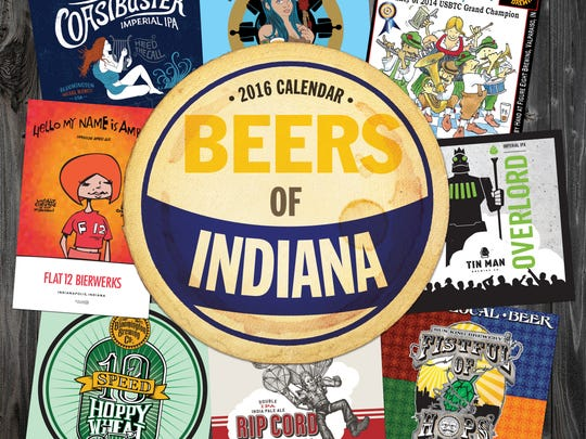 "2015 Calendar ""Beers of Indiana"" made by Indianapolis-based publishing company, TF Publishing."