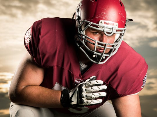 MBA offensive lineman Jackson Lampley was No. 5 on this year's Tennessean Dandy Dozen.