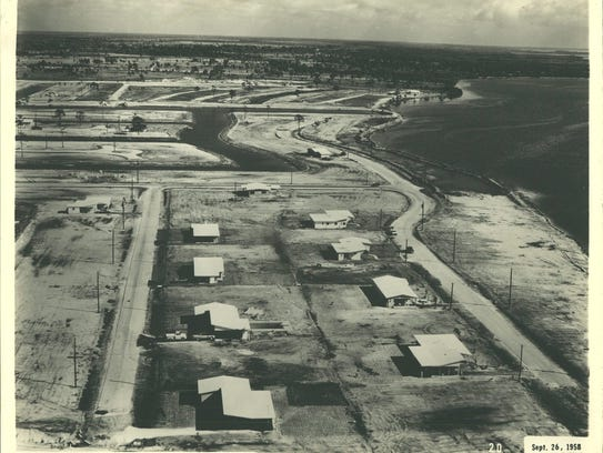 The first four houses in Cape Coral were built on Riverside