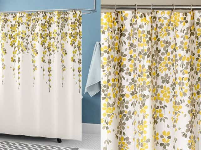 18 Unique Shower Curtains To Give Your, Yellow And White Shower Curtains
