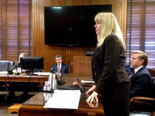 Murfreesboro attorney Michelle Blaylock-Howser speaks