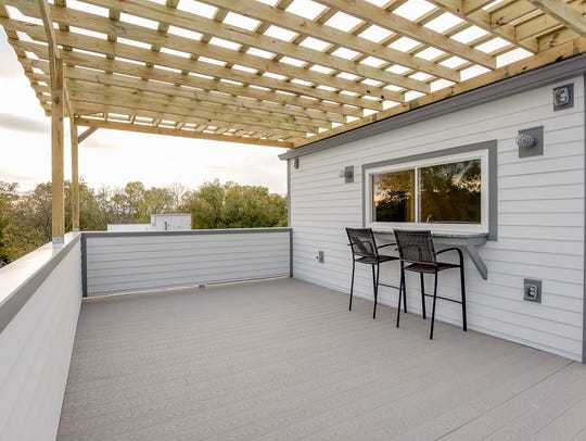 Rooftop decks give you private outdoor space if you