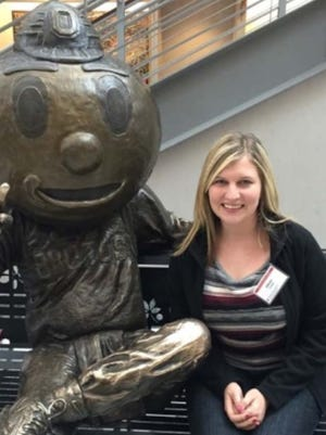 Allison Cooper on her first day at OSU.