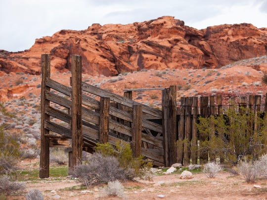An old corral at Gold Butte National Monument in Nevada, Jan. 12, 2017.