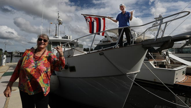Dave Cooper and his wife, Nancy, had been living on this 45 year old yacht. They left Hawaii six months ago for the trip to Fort Myers.