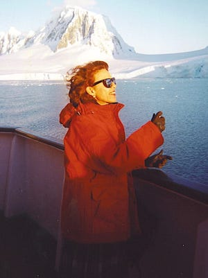 Even in Antarctica, Yvonne Lanelli dresses in warm and comfortable clothes while packing lightly.