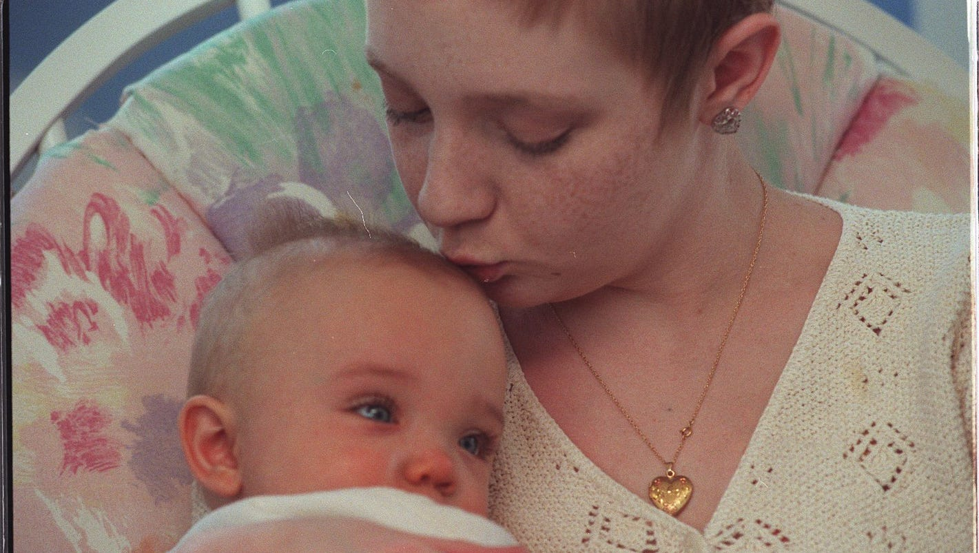 Young mother who put off cancer treatment to have her baby in remission