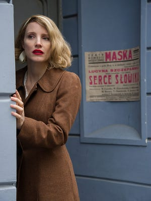 "Jessica Chastain stars in ""The Zookeeper's Wife,"" which will be presented as part of the Reel Readers series Thursday at the Farmington Public Library."