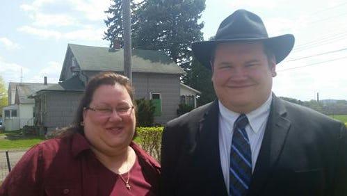 Diane Busko, with then-fiance Nik Busko in their engagement photo.