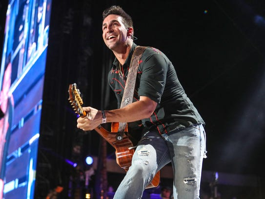 Jake Owen performed at the Stagecoach Country Music Festival at Empire Polo Club on April 27.