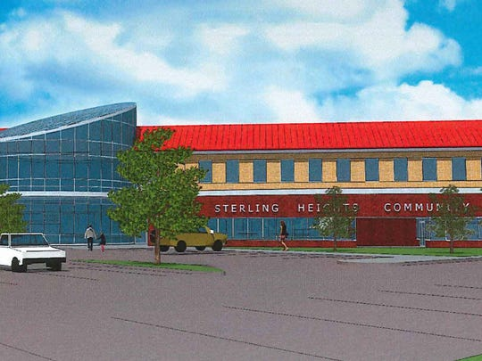 Rendering of a proposed 120,000-square-foot community