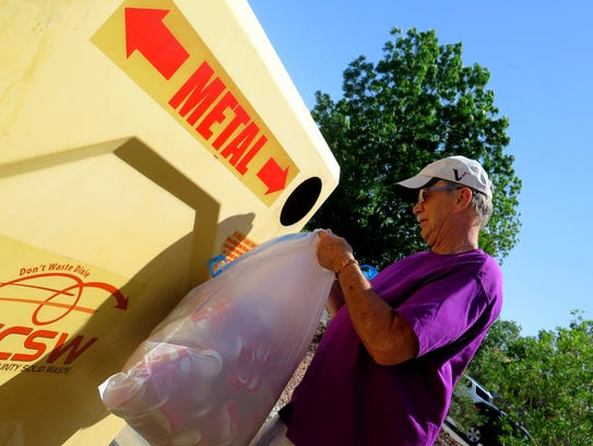 A St. George resident recycles cans into a Washington