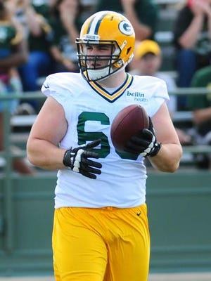 Rookie Corey Linsley could be the Packers' latest starting center.