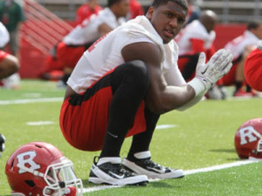"""Rutgers junior defensive lineman Darius Hamilton said it's """"not only important to everyone else to see what the team is about. It's important to us,"""" (Tanya Breen/MyCentralJersey.com)"""