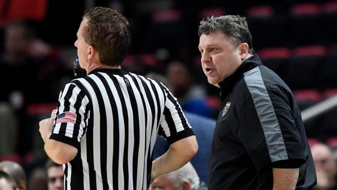 In the last two weeks, Greg Kampe's team has dropped three of four, and he's let his frustrations show.