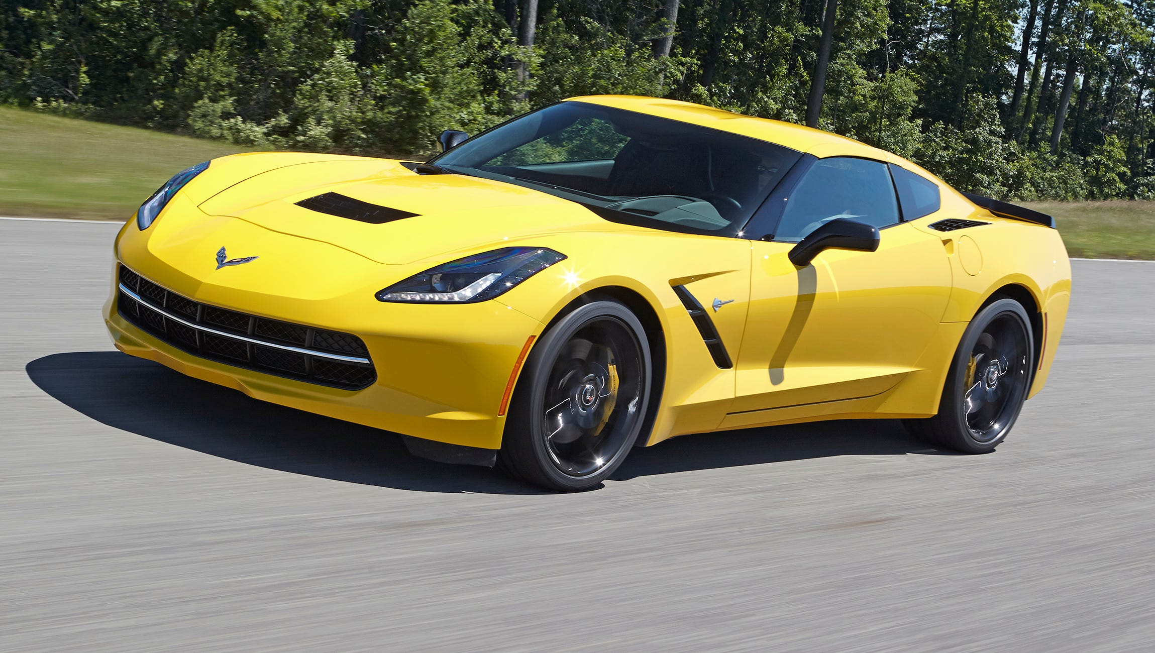 Chevy says the 2014 Corvette Stingray with optional Z51 performance package, will sustain 1.03 g in cornering force.