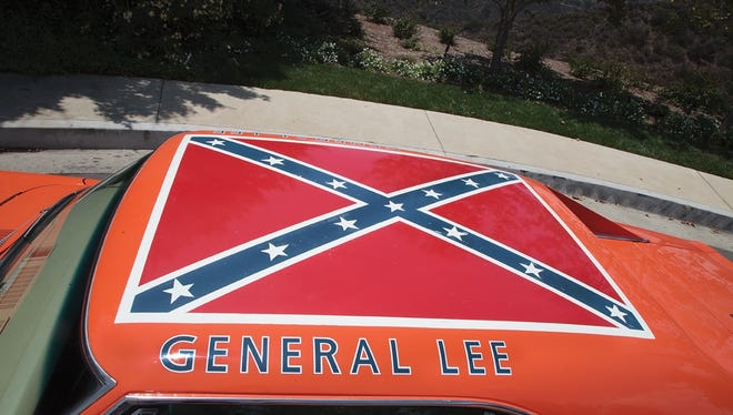 The Confederate flag on top of the 1969 Dodge Charger coming to auction