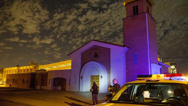 One priest was killed and another wounded at Mater Misericordiae (Mother of Mercy) Mission on June 11, 2014.