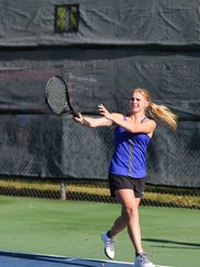 Sterling City's Brooke Rauch will try to follow in her sister Brittany's footsteps by winning a state tennis title this week in College Station. The younger Rauch is teaming up with Dain Copeland in mixed doubles. Her sister won the girls singles title in 2016.
