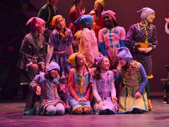 "Seventy-nine kids are in the cast of ""Elf Jr.: The Musical."" The ""Jr."" indicates the cast members are 18 or younger, and it's also a shorter show to appeal to children."