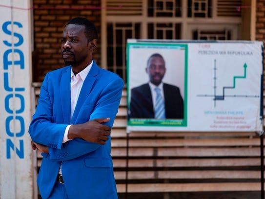 Rwandan independent candidate Philippe Mpayimana who