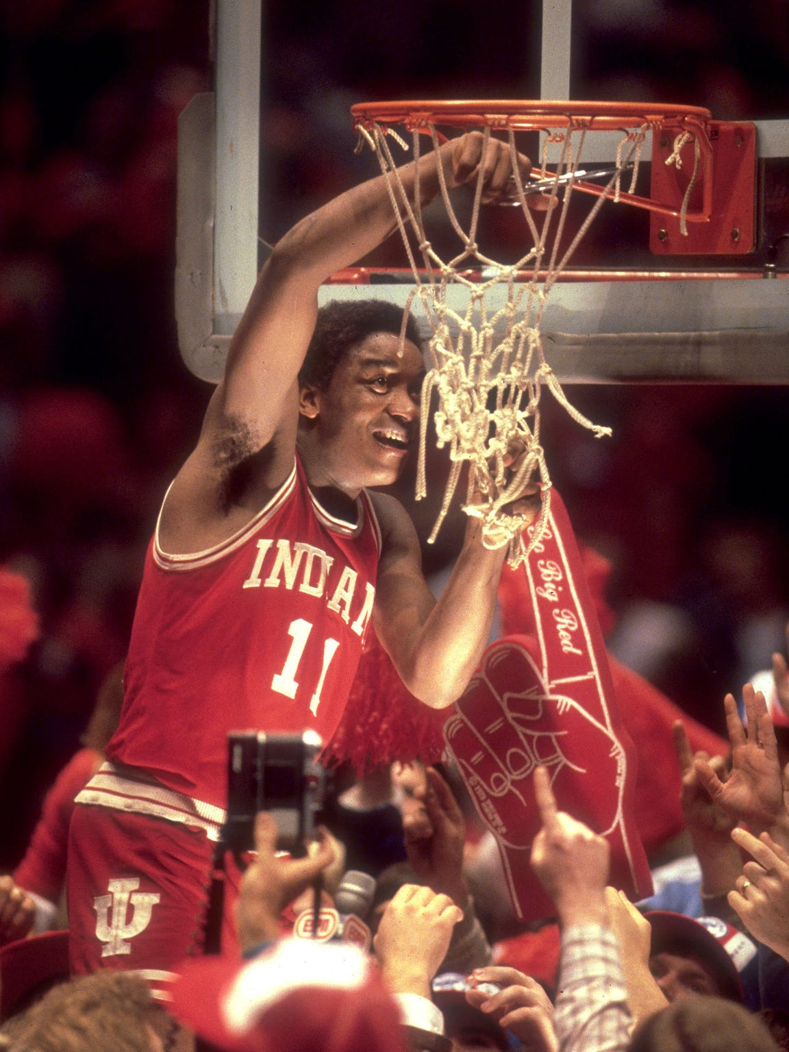 After clashing with Knight earlier in the season, Thomas finished his Indiana career all smiles. He was named the 1981 Final Four's Most Outstanding Player.