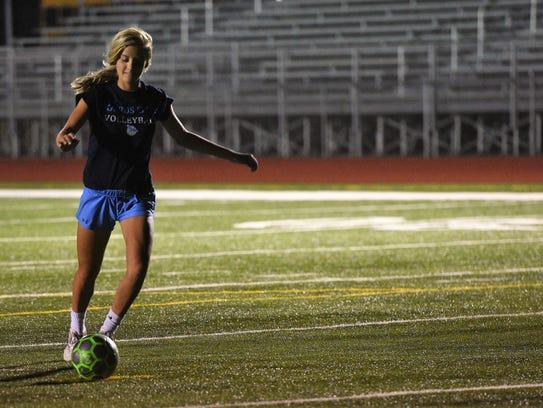 Cari Hansen, co-captain of the Tea Area girls soccer