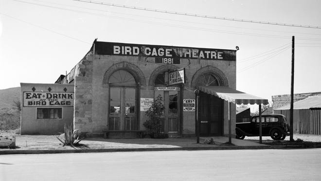 The Bird Cage Theatre in Tombstone was Arizona's most notorious entertainment destination. Seen here in 1937.