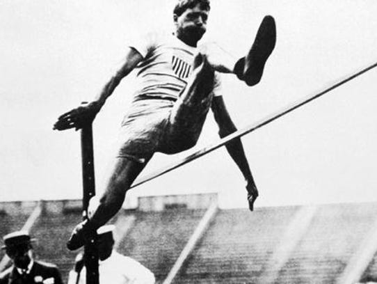 Lafayette native Ray Ewry  won 10 gold medals in Olympics