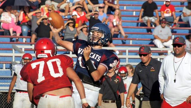 Junior quarterback Daniel Garcia threw the ball well during Friday's controlled scrimmage against Centennial High School, according to Deming High Head Coach Fernie Holguin.