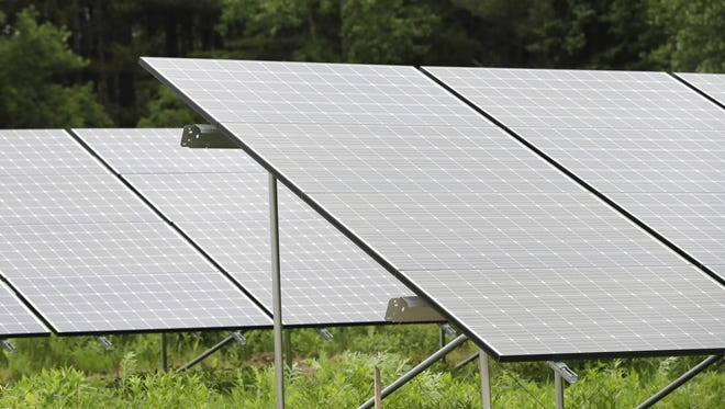 Solar panels at the Gordon Bubolz Nature Preserve are part of a microgrid, built by Faith Technologies and Schneider Electric, to power the nature center.