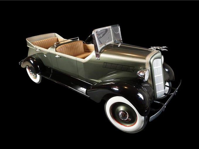 This 1935s Lincoln dual cowl phaeton pedal car by American