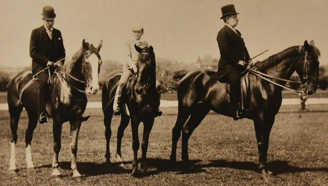 Alfred B. Maclay on horseback.