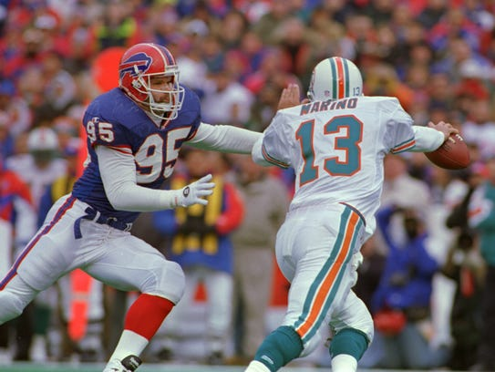 Former Northern Iowa linebacker Bryce Paup, shown here