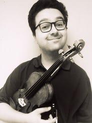 Violinist Charles Morey