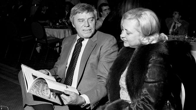 Tom T. Hall and his wife Dixie Hall enjoy the Grammy Gala at the Radisson Plaza Feb. 26, 1985. A turnout of 800 enjoyed the event and watch the Grammy taking place in Los Angeles on the big screen television.